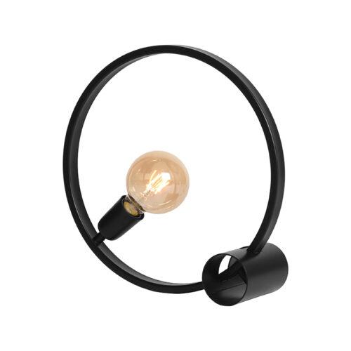 LABEL51 Tafellamp Ring - Zwart - Metaal