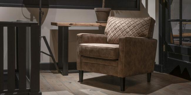 Fauteuil Newport - 200 meubelstoffen - UrbanSofa - WiegersXL